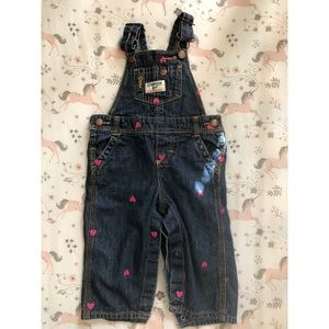 OshKosh B'gosh Denim Heart overalls